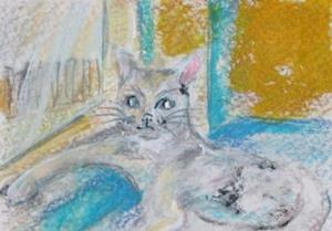 Detail Image for art Sally's Cat, SOLD