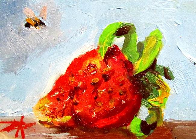 Art: Strawberry Aceo by Artist Delilah Smith