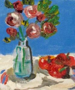 Detail Image for art Roses and Apples