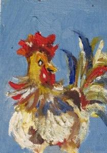 Detail Image for art Rooster Aceo