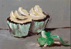 Detail Image for art Irish Cupcake Aceo