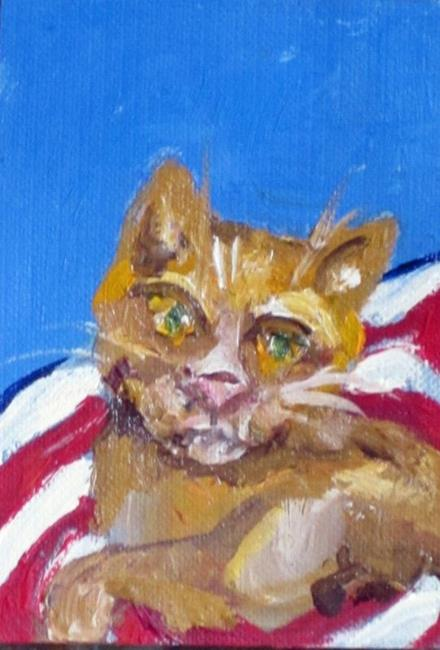 Art: Fourth of July Cat by Artist Delilah Smith