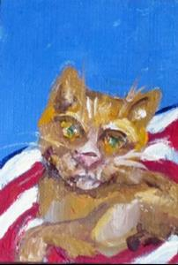 Detail Image for art Fourth of July Cat
