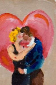 Detail Image for art Valentine Kiss Aceo