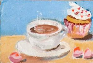 Detail Image for art Coffee and Cupcake Aceo