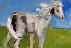 Art: Horse Aceo by Artist Delilah Smith