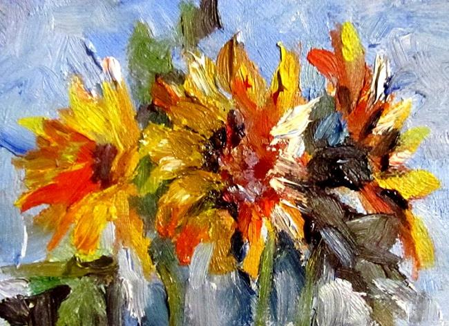 Art: Nature Sunflowers Aceo-SOLD by Artist Delilah Smith