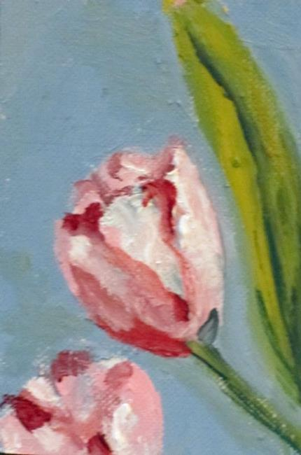 Art: Tulips Aceo SOLD by Artist Delilah Smith