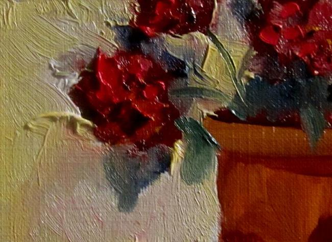 Art: Geranium Aceo SOLD by Artist Delilah Smith