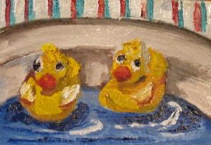 Detail Image for art Rubber Duckie Aceo-SOLD