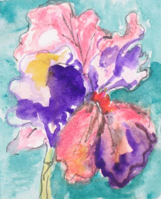 Art: Iris,SOLD by Artist Delilah Smith