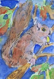 Detail Image for art Squirrel aceo-sold