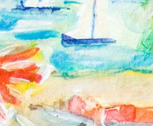 Detail Image for art Beach Day ACEO