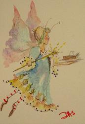 Art: Fall Fairy Aceo-SOLD by Artist Delilah Smith