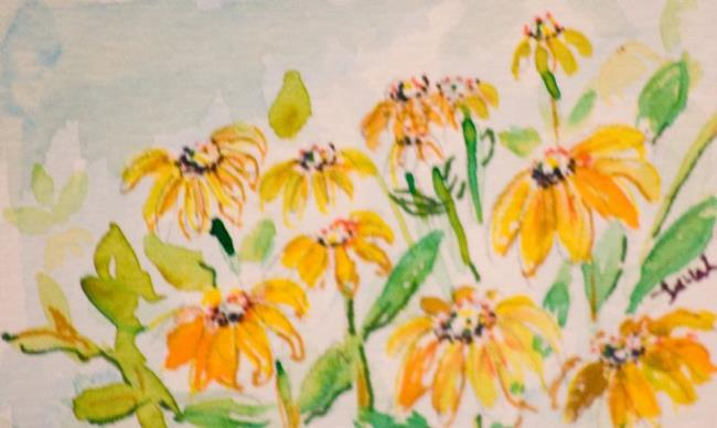 Art: Black Eyed Susan Aceo by Artist Delilah Smith