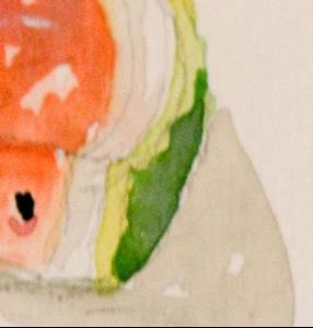 Detail Image for art Watermelon Slice Aceo