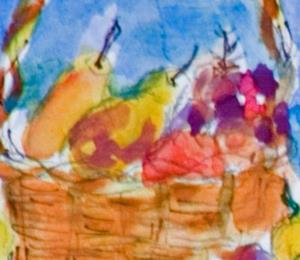 Detail Image for art Basket of Fruit ACEO