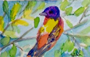 Detail Image for art Painted Bushing ACEO-sold
