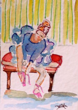 Art: Ballerina 2 ACEO by Artist Delilah Smith