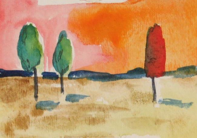 Art: Orange Sunset, SOLD by Artist Delilah Smith