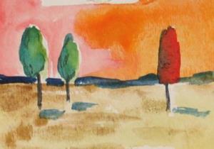 Detail Image for art Orange Sunset, SOLD