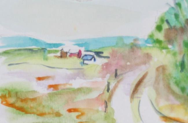Art: The Long Lane,SOLD by Artist Delilah Smith