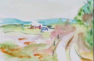 Detail Image for art The Long Lane,SOLD