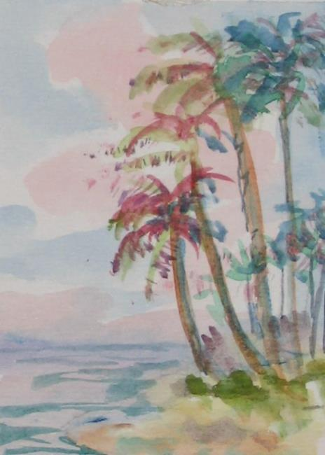 Art: Tropical Sunset, SOLD by Artist Delilah Smith