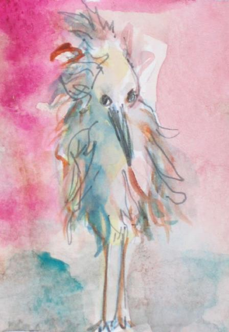 Art: Blue Heron SOLD by Artist Delilah Smith