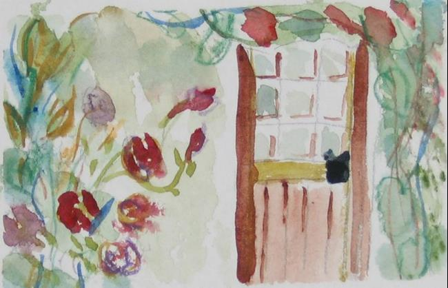 Art: The Cottage Door, SOLD by Artist Delilah Smith
