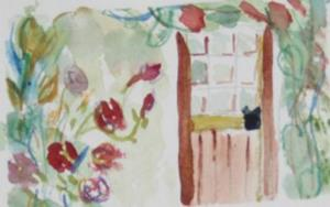 Detail Image for art The Cottage Door, SOLD