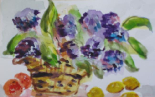 Art: Fruit and Flowers-sold by Artist Delilah Smith