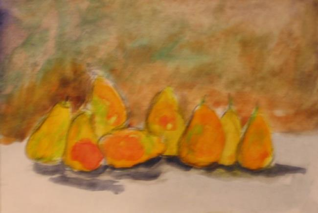 Art: Line of Pears-sold by Artist Delilah Smith