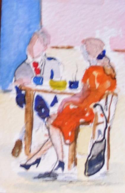 Art: Coffee Break  by Artist Delilah Smith