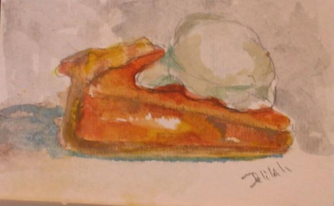 Art: Pumpkin Pie Aceo-sold by Artist Delilah Smith