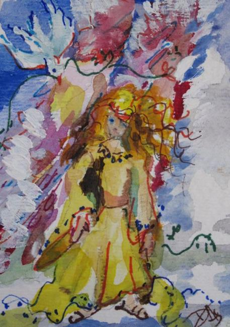 Art: Angel Aceo by Artist Delilah Smith