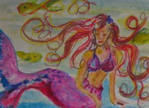 Detail Image for art Mermaid and Fish Aceo