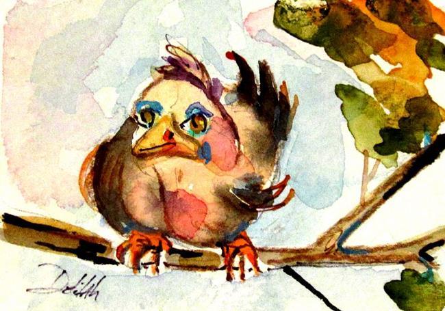 Art: Grumpy Old Bird by Artist Delilah Smith