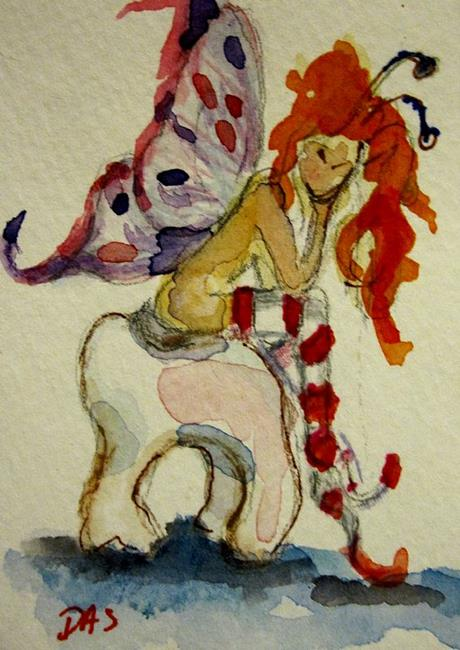 Art: Tooth Fairy Aceo-SOLD by Artist Delilah Smith