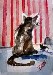 Art: Cat and Mouse-- SOLd by Artist Delilah Smith