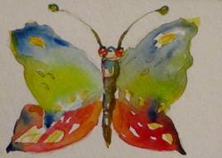 Art: Butterfly Aceo-SOLD by Artist Delilah Smith