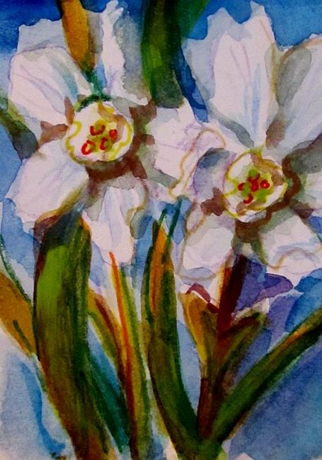 Art: Narcissus Aceo-sold by Artist Delilah Smith