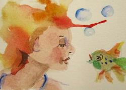 Art: Gossip Aceo-sold by Artist Delilah Smith