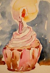 Art: Birday Cupcake by Artist Delilah Smith