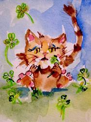 Art: Fluffy in the Sharocks by Artist Delilah Smith