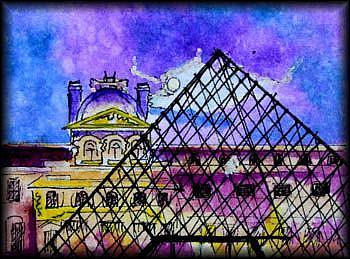 Art: THE LOUVRE, FRANCE SOLD by Artist Dottie Cooper Katz