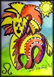Art: LEO by Artist Dottie Cooper Katz