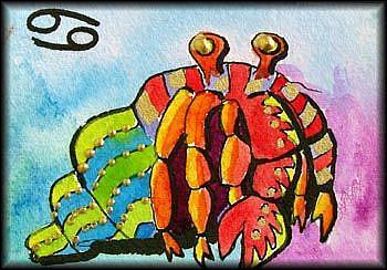 Art: CANCER by Artist Dottie Cooper Katz