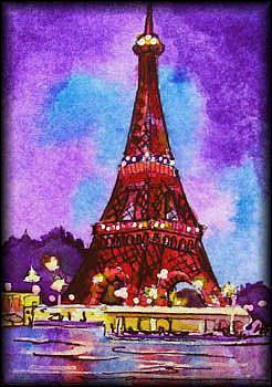 Art: EVENING IN PARIS SOLD by Artist Dottie Cooper Katz