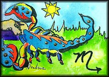 Art: SCORPIO by Artist Dottie Cooper Katz